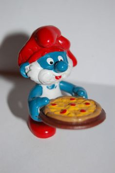 Pizza smurf collection smurfs lot of schtroumpf puffi smurfette pitufo