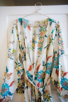 Bridal Suite Idea #7: Printed silk robes