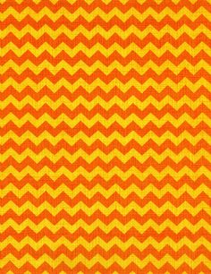 FABRIC ORANGE and Yellow CHEVRON for Fall by DorothyPrudieFabrics.