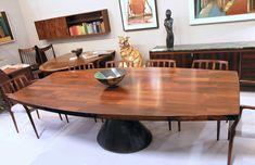 Jorge Zalszupin Guanabara table in jacaranda rosewood. Brazil 1960's. www.midcenturyhome.co.uk