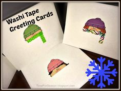 Winter Washi Tape Greeting Cards http://timeforseason.blogspot.com/2014/02/winter-washi-tape-greeting-cards.html