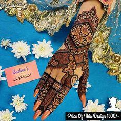 Kashees Mehndi, Mehndi Designs, Hand Henna, Hand Tattoos, Mehandi Designs