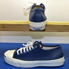 63f62f6c67eb CONVERSE JACK PURCELL VINTAGE SHOES NAVY BLUE MADE IN USA GREAT CONDITION  SIZE 7 Converse Hi