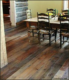 Dark rustic wood flooringalso many other flooring choices on