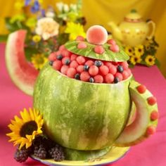 Watermelon Tea Pot - Love this... too bad I am allergic. :)  May still try this for someone else.