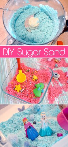 Make preschool fun with this Sugar Sand sensory kids' activity! Kids will love this colorful scented moldable sand you can make in your own kitchen.
