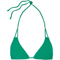Heidi Klein Key West cutout triangle bikini top ($115) ❤ liked on Polyvore featuring swimwear, bikinis, bikini tops, green, underwire tankini top, green bikini, triangle swimwear, swim tops and triangle bikini