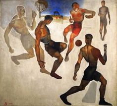 Football : Aleksandr Deyneka : circa 1924 : Art Print soccer sports…