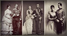 Sissi Children and their spouses ...Gisela & Leopold - Stephanie & Rudolf - Valerie & Franz Salvator
