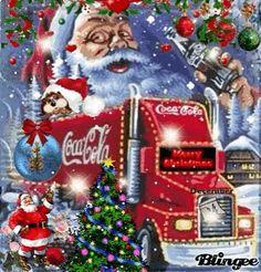 Merry Christmas mit Coca Cola Animated Pictures for Sharing Coca Cola Christmas, Merry Christmas, Christmas Scenes, Vintage Christmas, Christmas Truck, Xmas, Coca Cola Vintage, Coca Cola Ad, Always Coca Cola