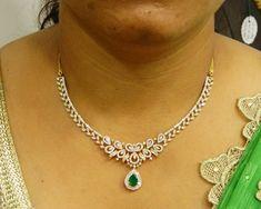 Diamond Necklaces / Chokers - Diamond Jewelry Diamond Necklaces / Chokers (DJPAM0079) at USD 8,536.73