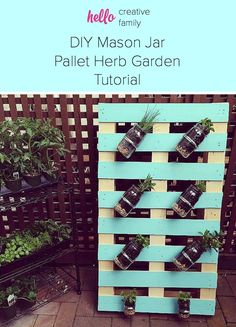 DIY Pallet Mason Jar