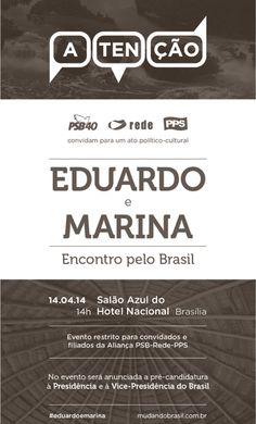 Marina e Campos deverão anunciar pré-candidaturas - POLITICADO