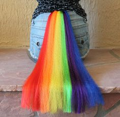 HALLOWEEN- Rainbow Dash tail - clip on costume cosplay - my little pony - friendship is magic