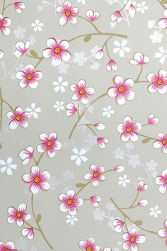 PiP Cherry Blossom Khaki behang