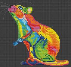 Simple Cross Stitch, Cross Stitch Bird, Cross Stitch Animals, Cross Stitch Designs, Cross Stitching, Cross Stitch Patterns, Pixel Crochet, Rainbow Crochet, Tribal Animals