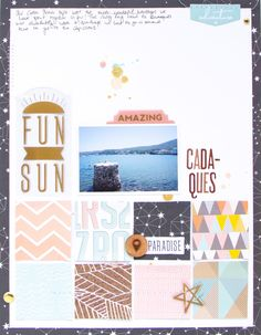 Cadaqués. by ScatteredConfetti // #scrapbooking #studiocalico #pinkpaislee