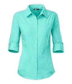 59a45e5ba7 The North Face Cool Horizon Shirt - Bonnie Blue Hiking Shirts, Travel  Shirts, Hiking
