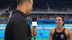 Kylie Masse talks to David Amber after winning bronze Rio Olympics 2016, Summer Olympics, Olympic Sports, Olympic Games, Tokyo 2020, Winter Games, Rio 2016, Swimmers, Kylie