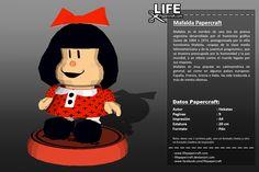 Comic - Mafalda       Mafalda es el nombre de una tira de prensa argentina desarrollada por el humorista gráfico Quino de 1964 a 1973, protagonizada por la niña hom� #comic #lifepapercraft #mafalda #papercraft #quino Minnie Mouse, Disney Characters, Fictional Characters, Paper, Templates, Fantasy Characters