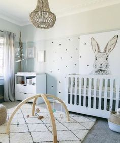 Gender neutral nursery colors - Little Peanut Mag Fall 2015 Baby Bedroom, Baby Boy Rooms, Baby Room Decor, Nursery Room, Kids Bedroom, Bunny Nursery, Kid Rooms, Bedroom Ideas, Nursery Themes
