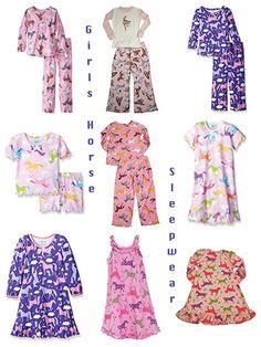 Girls Horse Pajamas   Birthday & Holiday Gifts   RidingCorner.com ...