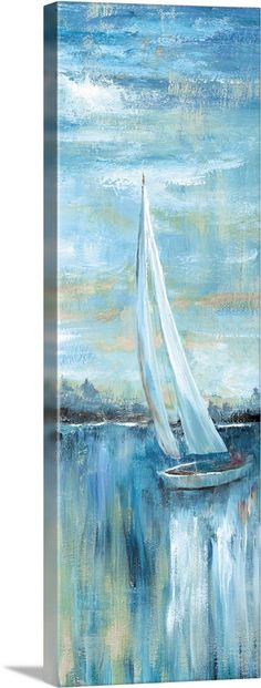 Canvas Wall Art, Wall Art Prints, Framed Prints, Canvas Prints, Big Canvas, Sailboat Art, Sailboat Painting, Sailboats, Landscape Art Quilts