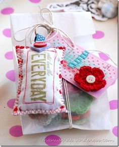 pretty (embellished) packaging