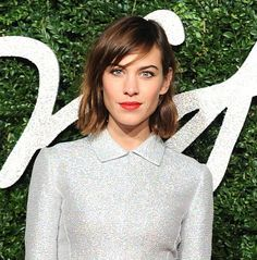 DAILY MAIL  Stunning Alexa Chung on the red carpet looking fab in her soft created Eyeko eyes and silver gown