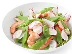 Shrimp and Snow Pea Salad Recipe - #healthy