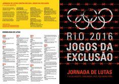 """A Campanha """"Rio 2016, os Jogos da Exclusão"""" produziu um mapa com as violações na cidade olímpica. Nessa publicação você também encontra as informações sobre a Jornada de Lutas, que ocorre de 1º a 5 de agosto, no Rio"""