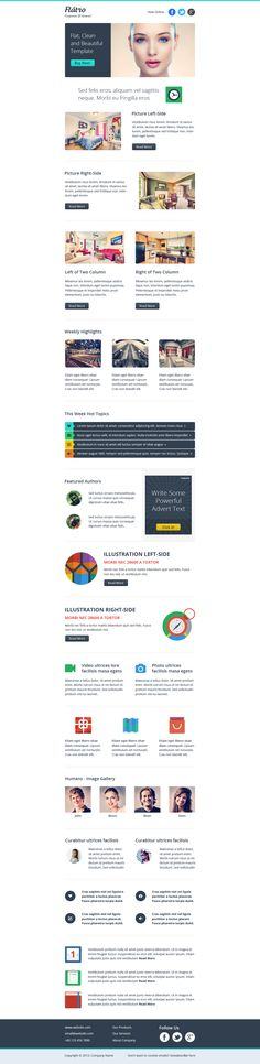 Flatro - Responsive Email Newsletter Template by ~asramnath on deviantART