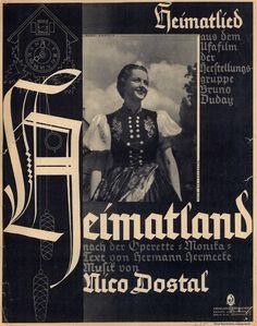 NICO DOSTAL - HEIMATLIED - OPERETTE MONIKA - 1937 - FÜR KLAVIER UND GESANG