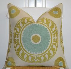 Beautiful Decorative Pillow Cover  20x20  by TurquoiseTumbleweed, $48.00