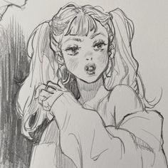 Leslie Hung on Insta Arte Inspo, Kunst Inspo, Art Drawings Sketches, Cartoon Drawings, Cute Drawings, Detailed Drawings, Drawing Faces, Sketch Art, Art Illustrations