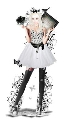 """A Silver Fox"" by girlinthebigbox ❤ liked on Polyvore featuring art, doll, Silver et fox"