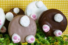 Easter Bunny Butt Chocolate Covered Oreos by TwistedSisterTreats, $18.00