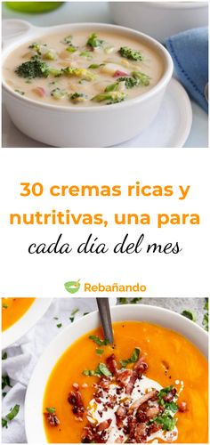 Una crema para estar calentito cada día del mes #sopa #crema #recetasdesopa #recetasdecrema #sopasdeliciosas #recetasfaciles #recetascaseras Veggie Recipes, Mexican Food Recipes, Great Recipes, Soup Recipes, Cooking Recipes, Healthy Recipes, Healthy Drinks, Healthy Eating, Summer Dishes