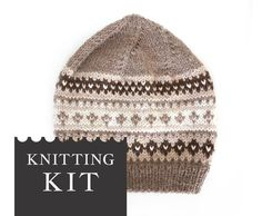Knitting Kits For Beginners, Diy Knitting Kit, Hand Knitting, Knitting Patterns, Hand Knitted Sweaters, Knitted Hats, Diy Hat, Sock Yarn, Hand Dyed Yarn