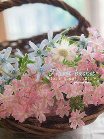 道のりを記憶に残して: 庭の花摘みノート|花とバスケット/花・ガーデニング
