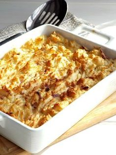 Cheese and potato pie, a comforting, cheap and easy side for gammon or sausages or just good on its own | www.thelapsedblogger.com