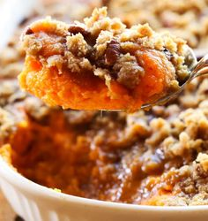 Sweet Potato Casserole | 17 Thanksgiving Side Dishes For A Joyous Celebration | These Hearty and Really Delicious Recipes are a Must On Your Table This Holiday! Check it out at http://homemaderecipes.com/thanksgiving-side-dishes/