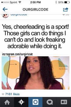 Cheerleading is def a sport