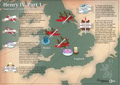 Shakespeare Infographic: Henry IV, Part 1