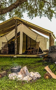 Westgate River Ranch - Florida, USA #glamping in safari tents | A Florida dude ranch with horseback riding, airboats, adventure park, rodeo & more.