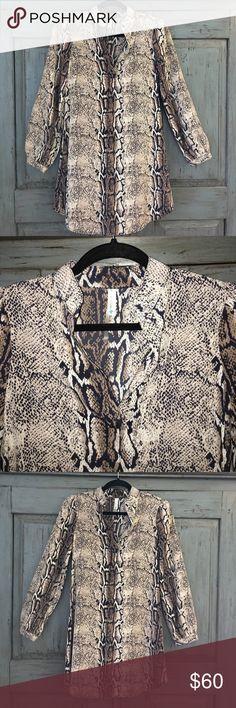 😻HOT! Python Print Shift Dress w Mandarin Collar 😻HOT! Python Print Shift Dress w Mandarin Collar. Never worn!!! NWOT Dresses