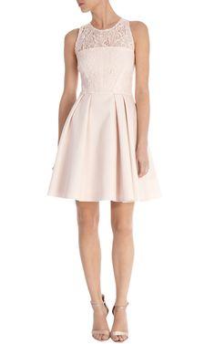 Lace bodice skater dress | Luxury Women's shop_all | Karen Millen