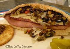 Muffaletta Sandwich in a Pita Pocket