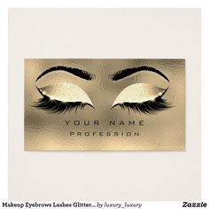 Shop Makeup Eyebrows Lashes Glitter Metallic Glass Gold Business Card created by luxury_luxury. Makeup Business Cards, Gold Business Card, Younique, Glitter Timberlands, Glitter Eyebrows, Glitter Eyeshadow, Eyebrow Makeup, Makeup Eyebrows, Lash Lounge