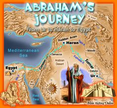 Abraham's Journey from Ur of the Chaldees to Haran to Canaan and to Egypt. Mystery of History Volume 1, Lesson 13 #MOHI13